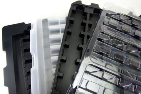 形成品トレーは複雑な形状の製品もしっかり保護します。